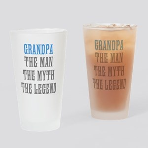 Grandpa The Man Myth Legend Drinking Glass