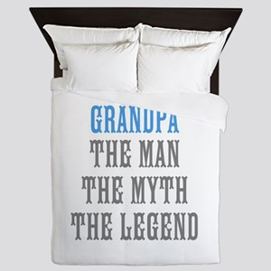 Grandpa The Man Myth Legend Queen Duvet