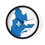 CarteQc1AvecLys Wall Clock