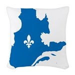 CarteQc1AvecLys Woven Throw Pillow