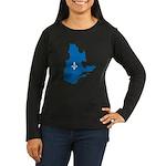 CarteQc1AvecLys Long Sleeve T-Shirt