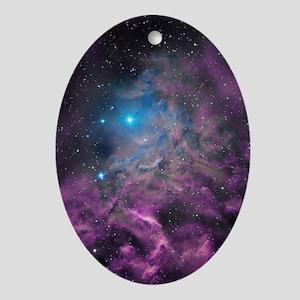 Flaming Star Nebula Oval Ornament