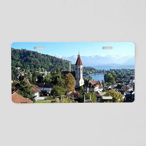 Thun, Switzerland landscape Aluminum License Plate