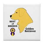 Golden Retriever Tile Coaster