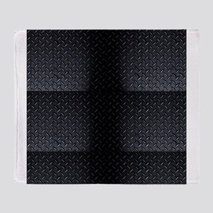 Black Diamond Plate Design Throw Blanket