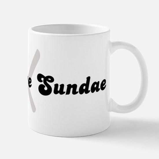 Hot Fudge Sundae (fork and kn Mug