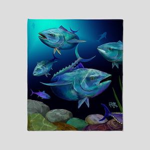 Blue Fin Tuna Throw Blanket