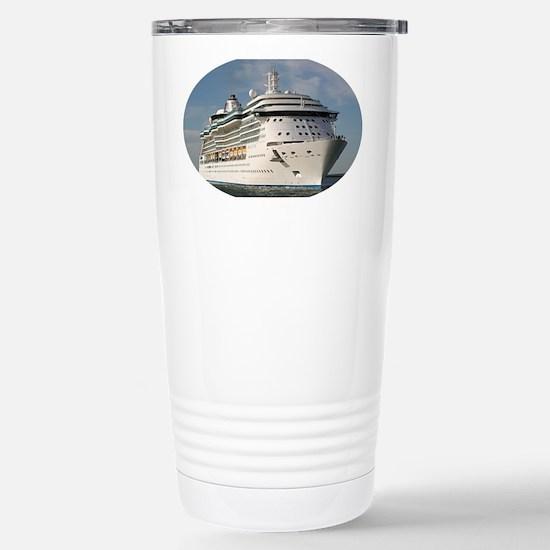 Cruise ship 3 (oval) Stainless Steel Travel Mug