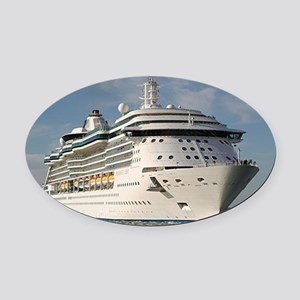 Cruise ship 3 (oval) Oval Car Magnet