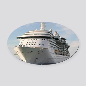 Cruise ship 4 (oval) Oval Car Magnet