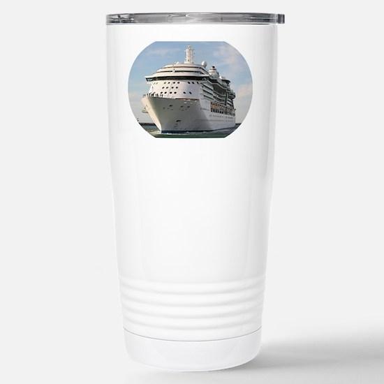 Cruise ship 4 (oval) Stainless Steel Travel Mug