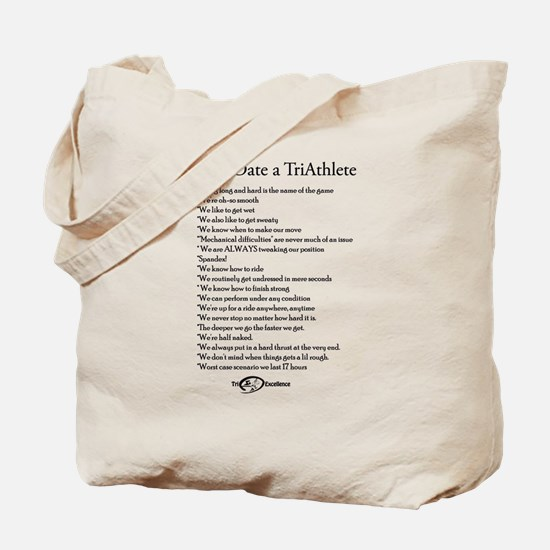 Reasons to Date a TriAthlete Tote Bag