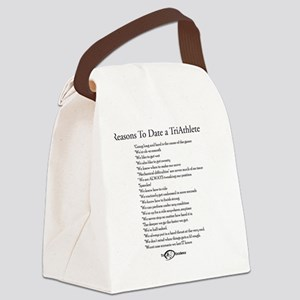 Reasons to Date a TriAthlete Canvas Lunch Bag