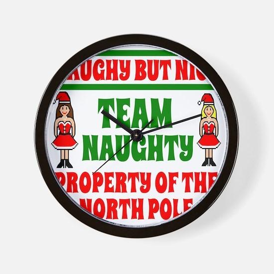 Naughty But Nice Team Naughty Wall Clock