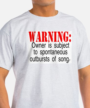Warning: Owner subject to sp Ash Grey T-Shirt