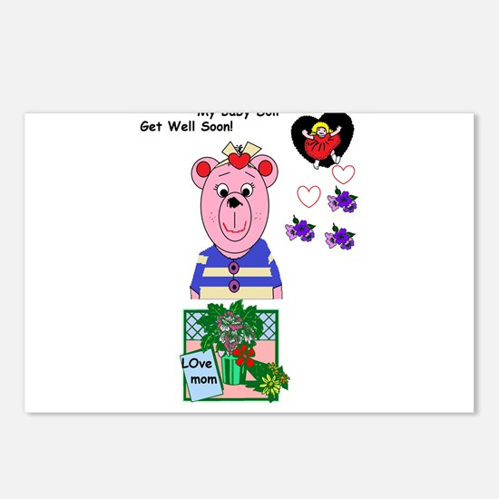 Get well soon Postcards (Package of 8)