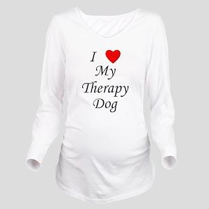 lovemytherapydog Long Sleeve Maternity T-Shirt