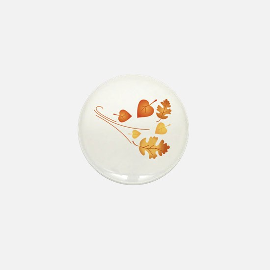 Falling Autumn Leaves Mini Button