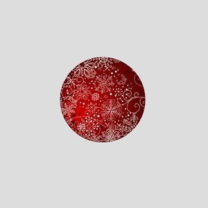 SNOWFLAKES (RED) Mini Button