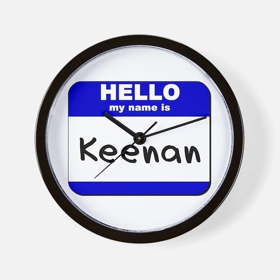 hello my name is keenan  Wall Clock