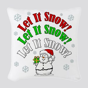 Let It Snow Woven Throw Pillow