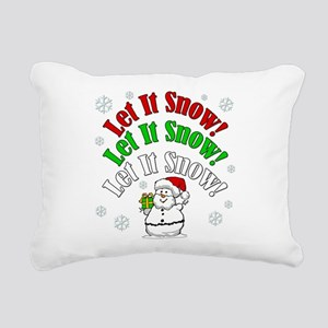 Let It Snow Rectangular Canvas Pillow