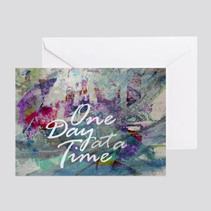 One Day At A Time Abstract Greeting Cards