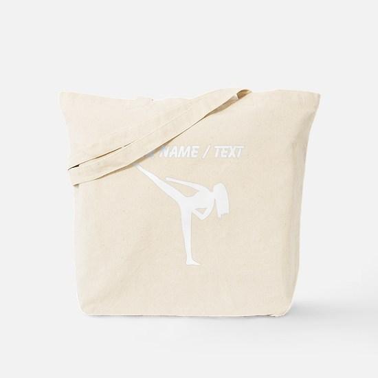 Custom Karate Silhouette Tote Bag