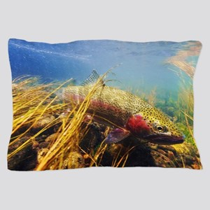 Rainbow Trout - Fly Fishing Pillow Case