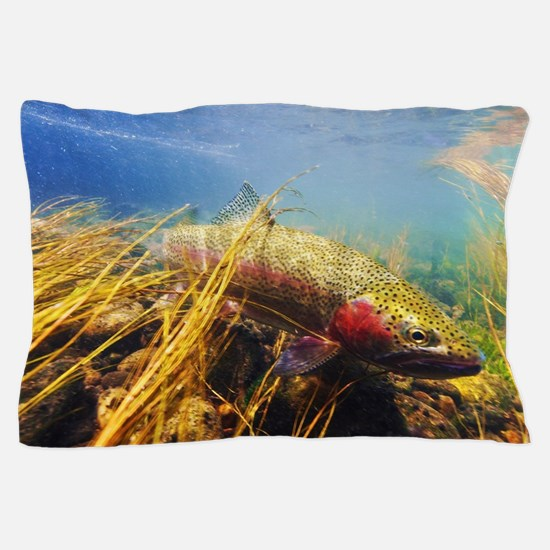 Rainbow Trout Fly Fishing Pillow Case