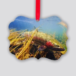 Rainbow Trout - Fly Fishing Picture Ornament