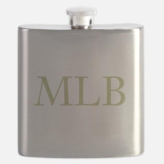 Gold Initials Flask