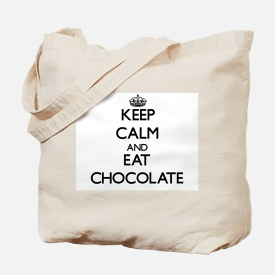 Keep calm and eat Chocolate Tote Bag