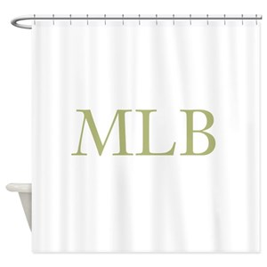 Gold Initials Shower Curtain