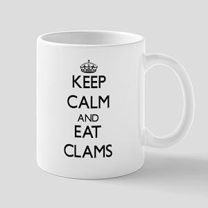 Keep calm and eat Clams Mugs