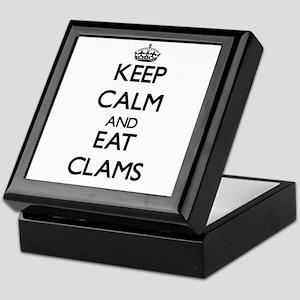 Keep calm and eat Clams Keepsake Box