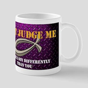 Dont Jude Me Diamond Plate Mugs