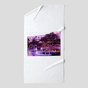 October In LA Beach Towel