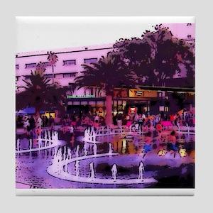 October In LA Tile Coaster