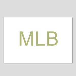Gold Initials Postcards (Package of 8)