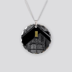 Ghost Barn - Elsah, Illinois Necklace Circle Charm
