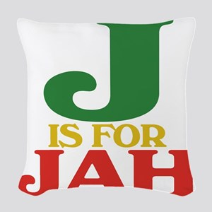 J is for Jah Woven Throw Pillow