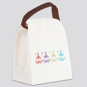 Yoga Glee Multi Color Canvas Lunch Bag