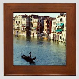 Venice Souvenir Gondola Ride on Grand  Framed Tile