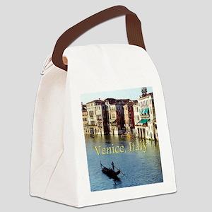 Venice Italy Souvenir Gondola Rid Canvas Lunch Bag
