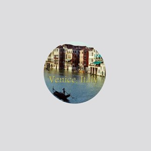 Venice Italy Souvenir Gondola Ride Pho Mini Button