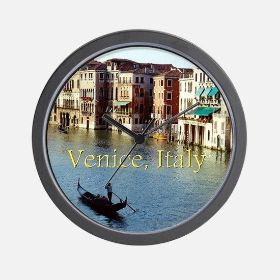 Venice Italy Souvenir Gondola Ride Phot Wall Clock