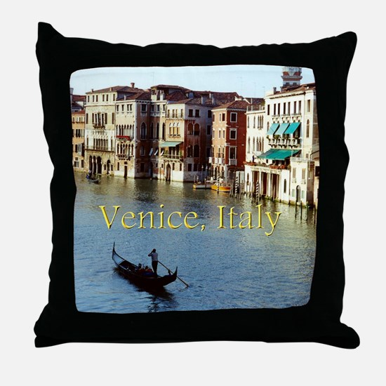 Venice Italy Souvenir Gondola Ride Ph Throw Pillow