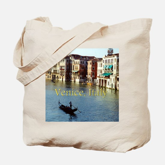 Venice Italy Souvenir Gondola Ride Photo Tote Bag