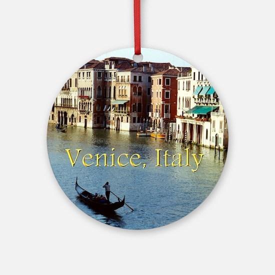 Venice Italy Souvenir Gondola Ride  Round Ornament